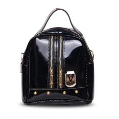Quincy Label Victory Women Backpack With Zipper Black Murah