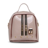 Obral Quincy Label Victory Women Backpack With Zipper Cream Murah