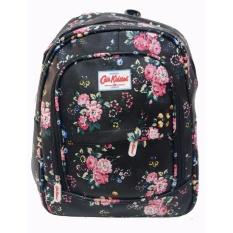 Top 10 Quincybaby Ransel Tas Small Flower Kanvas Pencetakan Tas Sekolah Berlibur Bahu Bag Black S304 Online