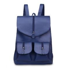Jual Quincylabel Ally Tas Ransel Wanita Women Backpack Navy Satu Set