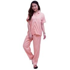 Beli Quincylabel Baju Tidur Salur Premium Peach Salem Quincylabel Online
