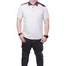 Harga Quincylabel Batik Polo Shirt 2 Abu Muda Quincylabel