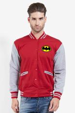 Toko Quincylabel Batman Cooper Man Varsity Maroon Grey Quincylabel