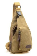 Harga Quincylabel Canvas Mens Shoulder Bag Chest Pack Crossbody Sports Bag Type I Khaki Lengkap