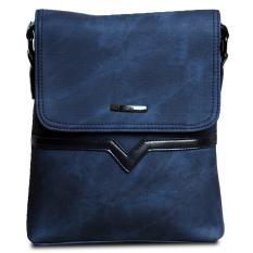 Model Quincylabel City Sling Bag Import Blue Terbaru