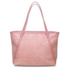 Harga Quincylabel Croco Himalayan Tote Bag Water Pink Lengkap