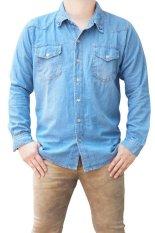 QuincyLabel Denim Jeans Shirt - Light Blue