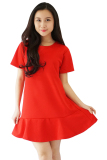 Spesifikasi Quincylabel Flare Dress Red
