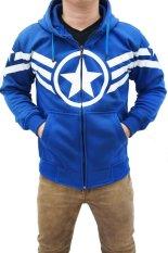 Spesifikasi Quincylabel Jacket Capt America Ii Biru Terbaik