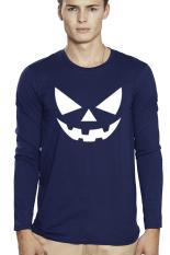 QuincyLabel Kaos Print Lengan Panjang Halloween A-177 - Navy