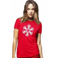 QuincyLabel Kaos Print Wanita Edisi Natal - A-185 - Merah