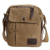 Review Quincylabel Men Vintage Canvas Multifunction Travel Satchel Messenger Shoulder Bag Coffee Di Indonesia