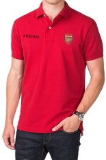 Spesifikasi Quincylabel Polo Soccer Shirt Arsenal Red Quincylabel