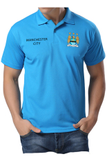 Spesifikasi Quincylabel Polo Soccer Shirt The Citizens Man City Biru Telor Asin Quincylabel
