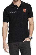 QuincyLabel Polo Soccer Shirt The Gunners arsenal-Black