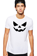 QuincyLabel Print T-shirt Halloween A-177 - White