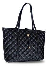 Harga Quincylabel Quilt Tote Bag Import Black Baru Murah