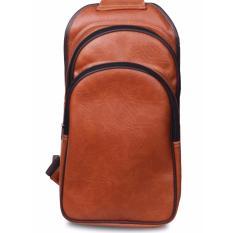 Ulasan Quincylabel Sling Bag Tas Pria Pu Leather Brown
