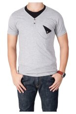 QuincyLabel T-shirt Double Button With Pocket - Grey
