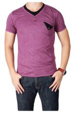 QuincyLabel T-shirt Double Buttton With Pocket - Purple