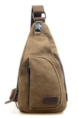 Toko Quincylabel Tas Sandang Kanvas Messenger Bag Pria Type I Coffee Yang Bisa Kredit