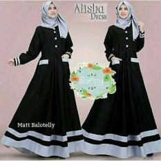 Alisha Dress Gamis Syari Simple Elegant