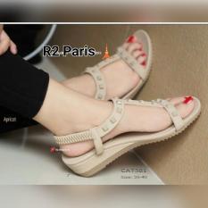 R2 Paris Sepatu Sandal Kovic Studed - Cream