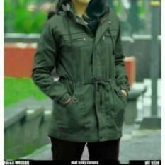 R2G Store - Jaket Parka Kanvas Wanita Hijau Army