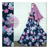 R2G Store Syar I Monalisa Busana Muslim Wanita Biru Dongker Motif Syar I Murah Di Indonesia