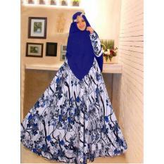 R2G Store - syar'i monalisa / busana muslim wanita - biru motif