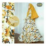 Beli R2G Store Syar I Monalisa Busana Muslim Wanita Kuning Motif Pakai Kartu Kredit
