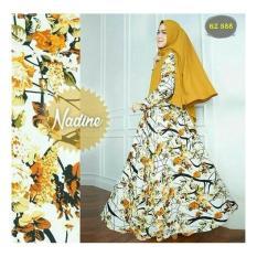Harga R2G Store Syar I Monalisa Busana Muslim Wanita Kuning Motif Original