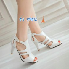 Review R2Paris Chunky Heels Alena Putih