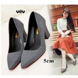 Harga R2Paris High Heels Polos 5Cm Suede Abu R2Paris