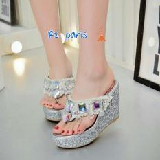 Harga R2Paris Sandal Wedges Zavir Silver Dan Spesifikasinya