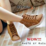 Harga R2Paris Sneakers Wedges Radaf Coklat Asli
