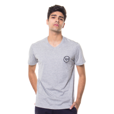 Jual Ra Jeans Small Logo Tee Grey V Neck Ra Jeans Di Indonesia