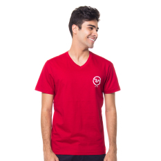 Ra Jeans Small Logo Tee Red V Neck Ra Jeans Murah Di Indonesia