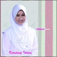 Jual Rabbani Great Innova Putih Jilbab Serut Kerudung Sekolah Murah