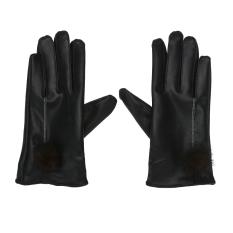 Spesifikasi Sarung Tangan Perempuan Sarung Tangan Musim Dingin Sarung Tangan Kulit Pu Bulu Kelinci M Intl Yang Bagus