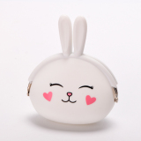 Review Terbaik Rabbit Silicone Coin Purses Pouches (White) Intl