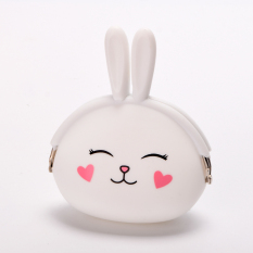 Spesifikasi Rabbit Silicone Coin Purses Pouches (White) Intl Baru