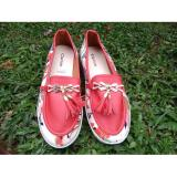 Harga Termurah Rafisha Slipon Wedges Flower Red