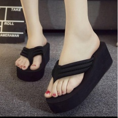 Rafisha-Wedges Jepit Simple-[Black]