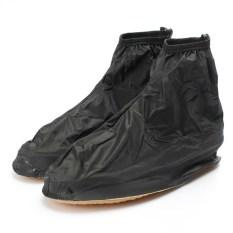 Spesifikasi Sepatu Hujan Fshion Pria Wanita Sepatu Boots Pergelangan Kesemek Overshoes Datar Selimut Tebal Antislip Platform Aksesoris Sepatu Tahan Air Online