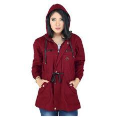 Penawaran Istimewa Raindoz Jaket Wanita Atasan Wanita Raindoz Rse 060 Merah Marun Terbaru