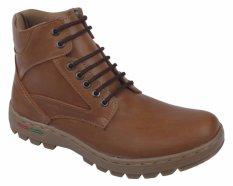 Raindoz Men Boots Classic Sintetis Sol Tpr Rag 5555 Cokelat Asli