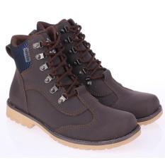 Cara Beli Raindoz Sepatu Boots Fashion Bikers Motor Casual Trendy Rjm516 Brown