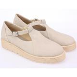 Jual Raindoz Sepatu Flat Shoes Boat Synth Best Seller Wanita Rdo160 Cream Jawa Barat Murah