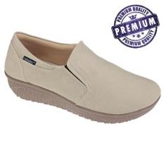 Beli Raindoz Sepatu Slip On Wanita Cream Rah 006 Pake Kartu Kredit